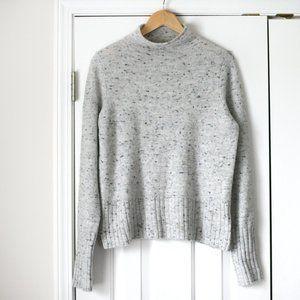 Madewell gray marled mock cozy sweater